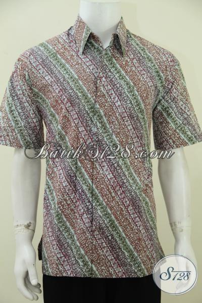Baju Batik Modern Motif Keren Selara Anak Muda Masa Kini, Hem Batik Lengan Pendek Proses Cap Tulis Bagus Dan Keren Untuk Lebaran [LD2777CT-L]
