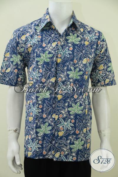 Online Shop Pakaian Batik Pria, Jual Baju Batik Lengan Pendek Murah Kwalitas Premium, Hem Batik Keren Proses Cap Tulis Cocok Untuk Kerja Dan Santai [LD2778CT-L]