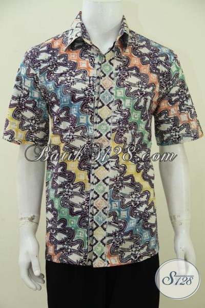 Baju Batik Anak Muda Masa Kini Dengan Motif Parang Modifikasi Modern, Baju Batik Keren Untuk Hangouts Dan Pesta [LD2785C-L]
