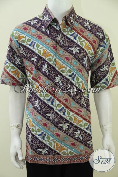 Baju Batik Prang Modern Dengan Kombinasi Warna Dan Motif Trendy Lebih Fresh Untuk Menunjang Penampilan Pria Muda Lebih Modis Dan Berkelas [LD2794CT-XL]