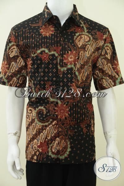 Agen Batik Premium Khas Solo Jawa Tengah Hadir Dengan Motif Klasik Mewah Nan Elegan, Baju Batik Tulis Soga Full Furing Sempurnakan Penampilan Cowok Maskulin, Size L
