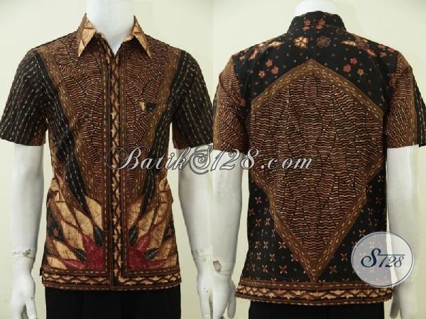 Baju Batik Tulis Klasik Motif Matahari Dilengkai Daleman Full