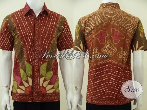 Baju Batik Tulis Full Furing Motif Matahari Hem Batik Lengan