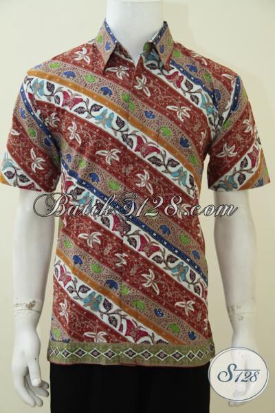 Baju Batik Trendy Motif Keren Dan Modern, Hem Batik Lengan Pendek Khas Anak Muda Yang Selalu Ingin Tampil Beda, Size M