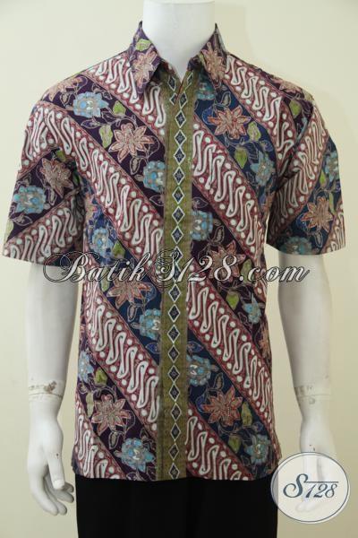 Hem Batik Parang Modern Dengan Kombinasi Warna Keren Sangat Cocok Untuk Pria Muda Yang Selalu Memperhatikan Penampilan [LD2838CT-L]