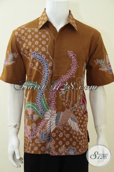 Jual Busana Batik Lengan Pendek Motif Terbaru Produk Asli Solo, Hem Batik Tulis Kwalitas Premium Pria Tampil Keren Berkelas, Size L