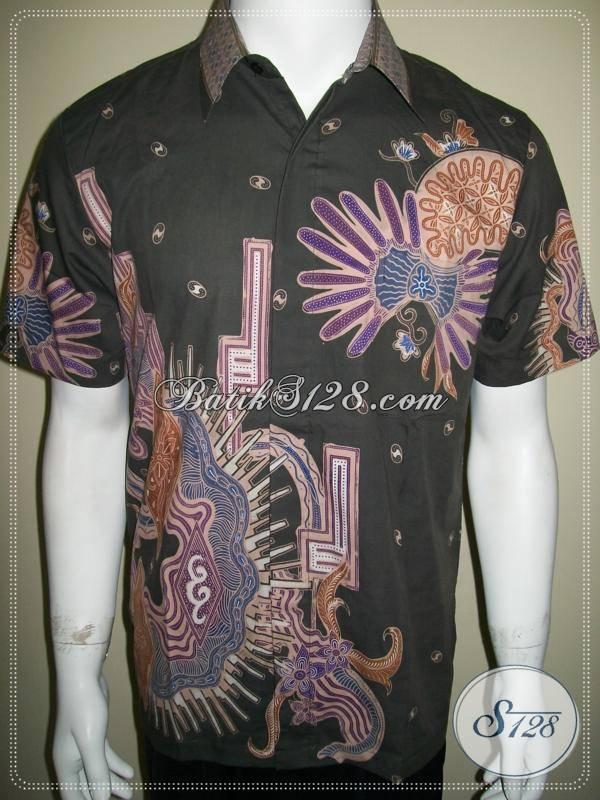 Kemeja Batik Pria Modern, Batik Malam Dingin, Motif Abstrak [LD285T-M]