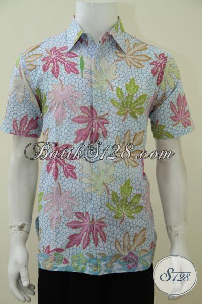 Toko Online Kemeja Batik Modern Untuk Anak Muda Dan Remaja, Baju Batik Lengan Pendek Proses Printing Kwalitas Halus Dan Tidak Panas, Size M