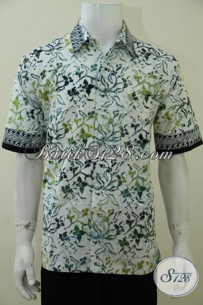Pakaian Batik Trendy Motif Keren Anak Muda Banget, Hem Batik Cap Bledak Kwalitas Bagus Harga Terjangkau, Size L