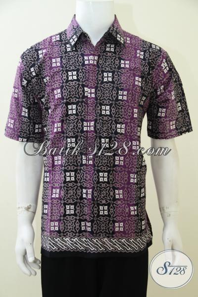 Jual Baju Batik Cap Tulis Motif Terbaru Yang Lebih Berkelas Dan Modern, Busana Batik Lengan Pendek Pria Muda Dan Dewasa Untuk Tampil Beda serta Bergaya, Size L