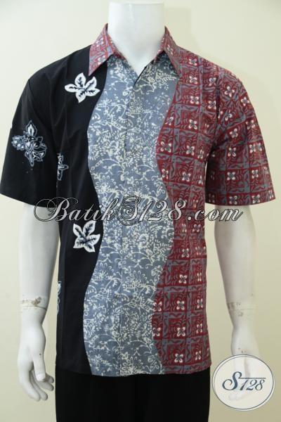 Pakaian Batik Berkwlaitas Premium Dengan Harga Minimum, Baju Batik Lengan Pendek Untuk Pria kombinasi Tiga Motif [LD2930CT-L]
