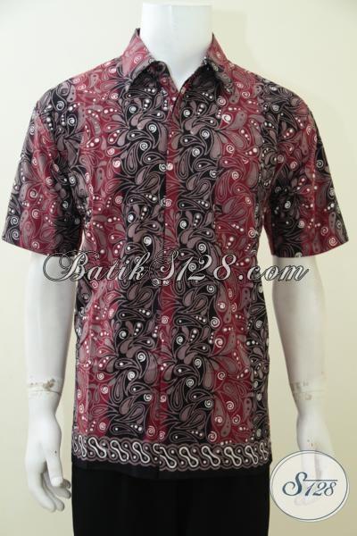 Kemeja Batik Lengan Pendek Pria Muda Dan Dewasa, Baju Batik Kerja Motif Trendy Membuat Pria Lebih Keren, Size L