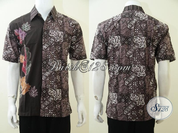 Jual Online Baju Batik Trend Terkini Untuk Pria Muda Dan Dewasa, Hem Batik Lengan Pendek Kwalitas Istimewa Berpadu Motif Yang Keren, Size M