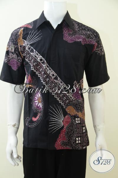 Busana Batik Remaja Pria Dan Dewasa, BajuBatik Lengan Pendek Motif Unik Untuk Tampil Trendy Gagah Dan Modis, Size M