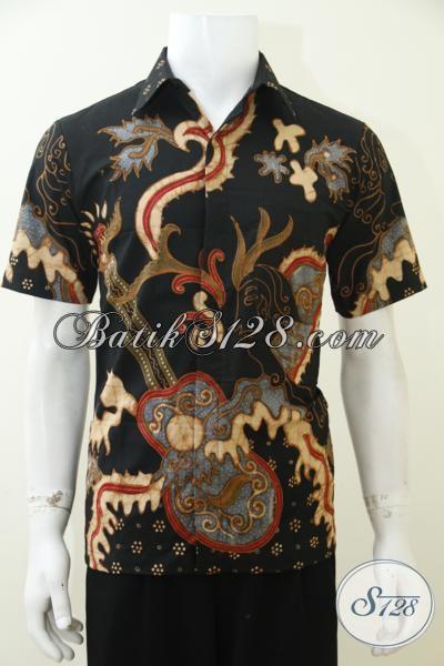 Kemeja Batik Premium Proses Tulis Soga, Hem Batik Hitam Lengan Pewarna Alami Lebih Jalus Dan Lembut, Sangat Cocok Untuk Pria muda maupun Dewasa Karir Aktif [LD2980TS-S]