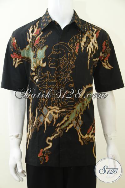Kemeja Batik Tulis Soga Halus Adem motif Keren Dengan Harga Terjangkau, Baju Batik Kerja Pria Muda Dan Dewasa, Size L