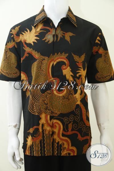 Jual Baju Batik Tulis Soga Motif Klasik Modern, Baju Batik Kerja Nan Elegan Dan Mewah Untuk Cowok Karir Aktif, Size L