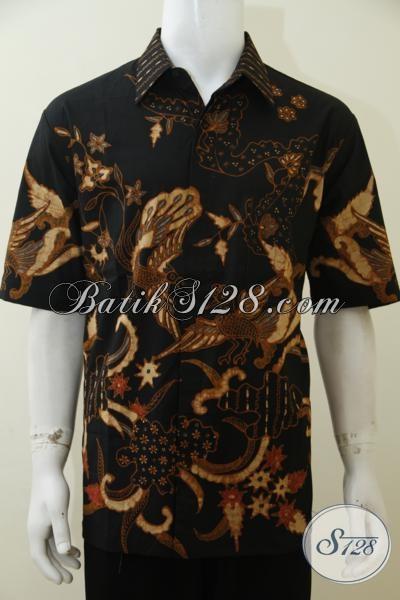 Toko Online Busana Batik Pria Paling Lengkap, Jual Kemeja Batik Tulis Soga Kwalitas Bagus Halus Dengan Harg Terjangkau, Size XL