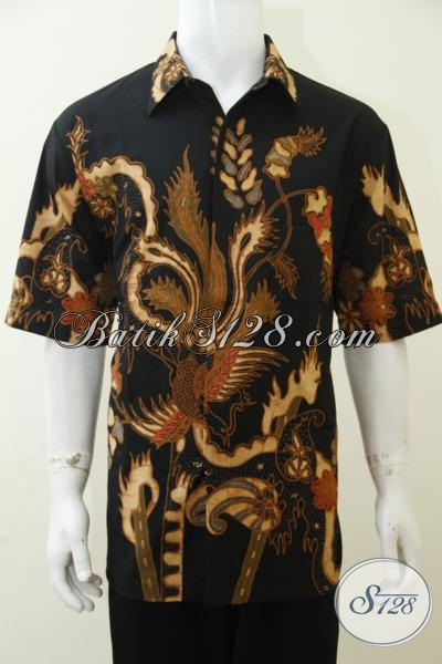 Hem Batik Ukuran Besar Cocok Untuk Pria Gemuk, Baju Batik Tulis Soga Motif Modern Size Jumbo Bisa Untuk Kerja Maupun Kondangan [LD2997TS-XXL]