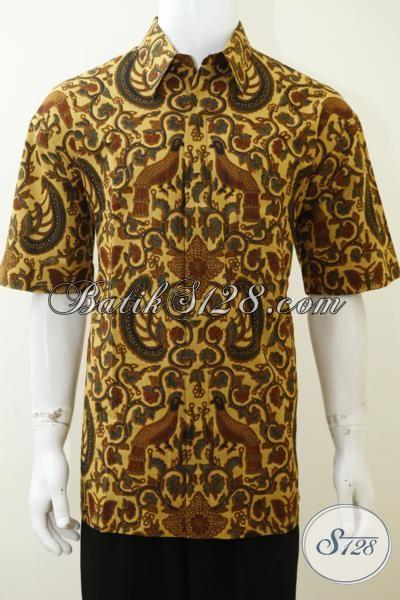 Jual Online Kemeja Batik Klasik Berkwalitas Harga Murmer, Hem Batik Lengan Pendek Pria Tampil Gagah Dan Berwibawa [LD3034P-XL]
