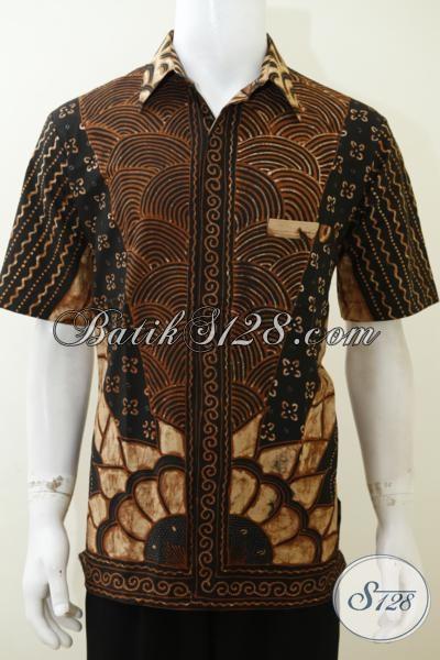 Jual Aneka Pakaian Batik Klasik Khas Solo Untuk Pria Muda Dan Dewasa, Baju Batik Kemeja Lengan Pendek Cocok Untuk Kondangan Dan Seragam Ke Kantor [LD3051T-L]