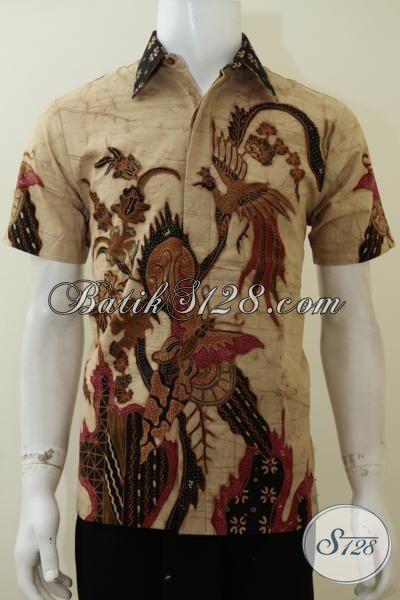 Jual Aneka Hem Batik Klasik Modern Proses Tulis Bledak, Baju Batik Pria Model Lengan Pendek Warna Elegan Motif Bagus Bagus Untuk Kerja Dan Mewah Untuk Acara Resmi [LD3061TDF-S]