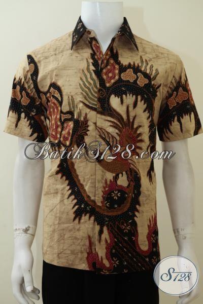 Kemeja Batik Solo Terbaru Untuk Laki-Laki Tampil Elegan Dan Trendy, Baju Batik Tulis Bledak Lengan Pendek Full Furing Mewah Untuk Segala Acara [LD3062TDF-M]