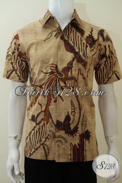 Kemeja Batik Modern Motif Dan Warna Klasik, Baju Batik Solo Masa Kini Mewah Full Furing Dengan Kwalitas Premium Dan Harga Yang Terjangkau [LD3064TDF-M]