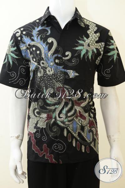 Baju Batik Tulis Motif Paling Baru Saat Ini, Kemeja Batik Lengan Pendek Bahan Halus Adem Dan Nyaman Untuk Iklim Tropis [LD3092T-L]