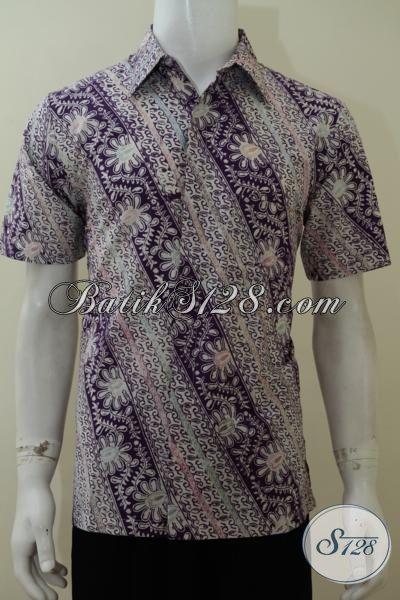 Toko Aneka Batik Modern Trend Terkini, Jual Kemeja Batik Seragam Kerja Pria Muda Motif Parang, Baju Batik Lengan Pendek Kwalitas Bagus Harga Murah [LD3108C-M]