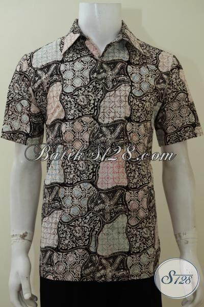 Kemeja Batik Laki-Laki Muda Dengan Motif Paling Baru Saat Ini, Baju Batik Model Lengan Pendek Kwalitas Bagus Dengan Harga Terjangkau [LD3112C-M]