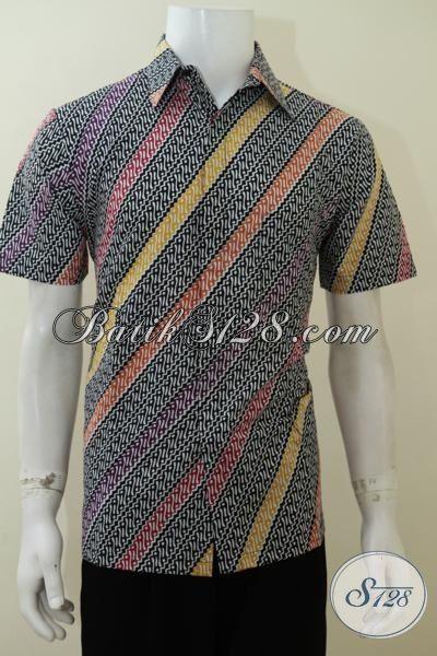 Jual Busana Batik Parang Desain Modern Warna Menarik, Cocok Untuk Lelaki Masa Kini Yang Selalu Ingin Tampil Trendy, Size M