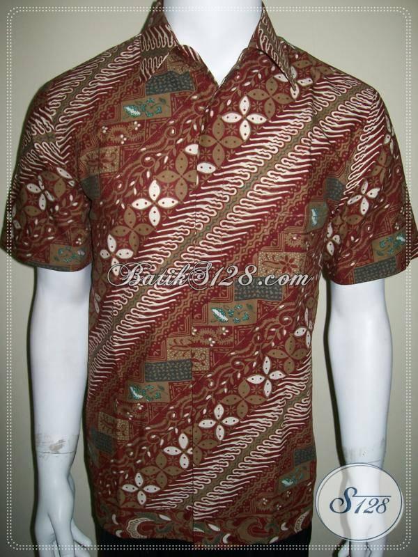Baju Batik Pria Size Medium Motif Klasik Modern Murah