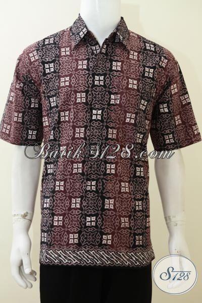 Hem Batik Kwalitas Premium HargaTerjangkau Untuk Para Karyawan, Baju Batik Cap Tulis Dengan Desain Motif Trendy Dan Warna Menarik [LD3129CT-L]
