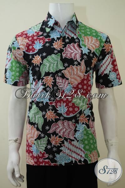 Busana Batik Motif Warna-Warni Trendy Cocok Untuk Pakaian Ke Pesta, Hem Batik Lengan Pendek Pria Muda Yang Ingin Tampil Beda [LD3159P-M]