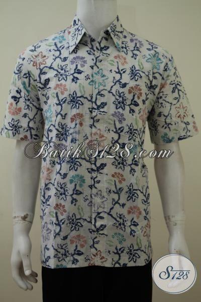 Baju Batik Motif Unik Proses Cap Bledak, Pakaian Batik Remaja Pria Masa Kini Yang Ingin Tampil Modis Dan Keren [LD3165CD-L]