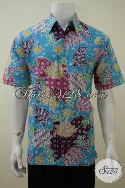 Baju Batik Pria Harga Murah Meriah, Hem Batik Masa Kini Proses Print Dengan Motif Dan Warna Cerah Membuat Pria Tampil Berkharisma [LD3167P-S]