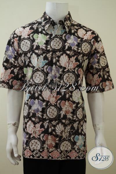 Pakaian Batik Pria Muda Jaman Sekarang, Baju Batik Kwalitas Bagus Berpadu Motif Berkelas Tampil Lebih Percaya Diri, Size XL