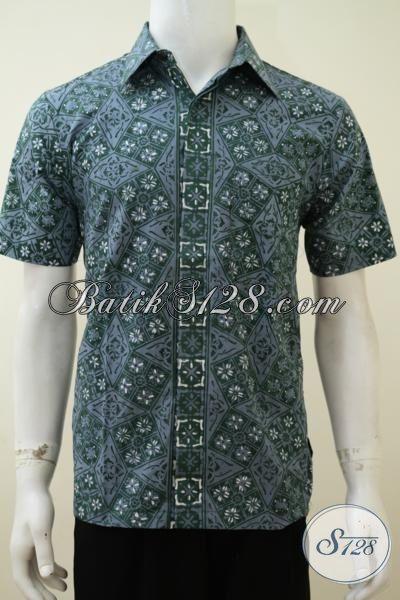 Jual Pakaian Batik Pria Trend Terkini, Baju Batik Warna Hijau Motif Bagus Proses Cap Tulis Dengan Harga Yang Lebih Terjangkau [LD3175CT-S]