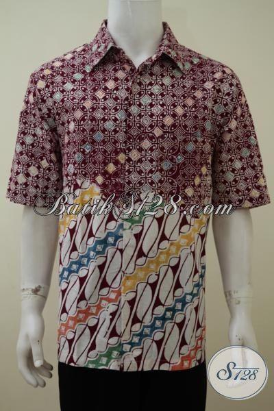 Hem Batik Parang Paling Keren Saat Ini Dengan Kombinasi Dua Motif Berkelas Sempurnakan Penampilan Pria Modern, Size XL