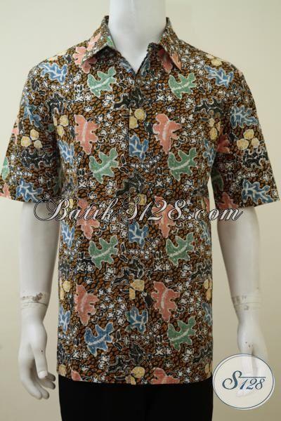 Jual baju batik pria untuk pesta hem batik modern trend Jual baju gamis untuk pria