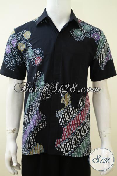 Distro Online Paling Up To Date, Sedia Hem Batik Modern Koleksi Trend 2015, Baju Batik Anak Muda Dan Remaja Gaul Tampil Modis [LD3227CT-M]