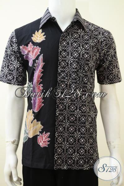 Sedia Busana Batik Pria Dengan Motif Desain Terbaru Yang Lebih Unik Dan Berkelas, Baju Batik Cap Tulis Lengan Pendek Mewah Harga Bawah [LD3230CT-M]