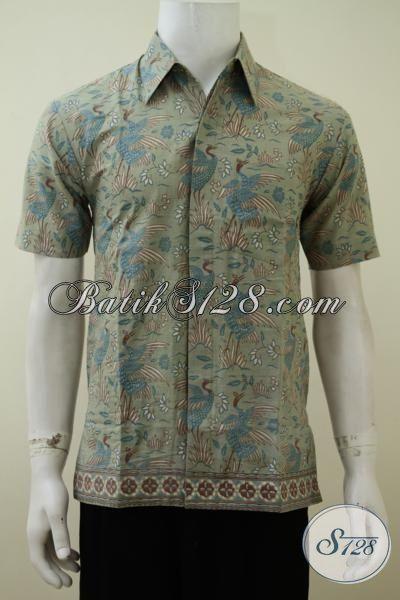 Pakaian Batik Pria Muda Motif Keren Warna Soft, Baju Batik Dengan Desain Motif Mewah Harga Murah Meriah [LD3258PL-S]