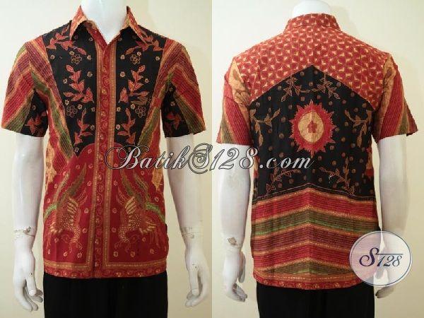 Baju Batik Pria Motif Terbaru Size M Bahan Katun Halus