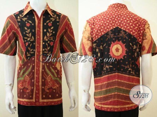 Baju Unik Kemeja Batik Untuk Pria Pecinta Batik Dan Seniman [LD3315BT-L]