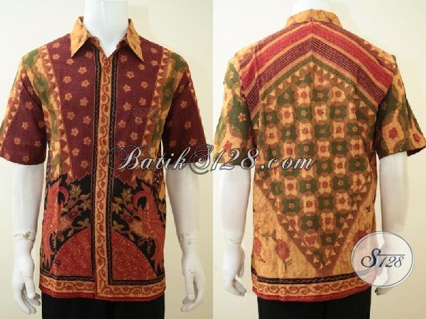 Baju Batik Keren Laki Banget Ukuran XL, Motif Unik [LD3319BT-XL]