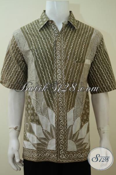 Baju Batik Tulis Pria Ukuran XL, Warna Soft, Kalem, Elegan Dan Exclusive [LD3320TA-XL]