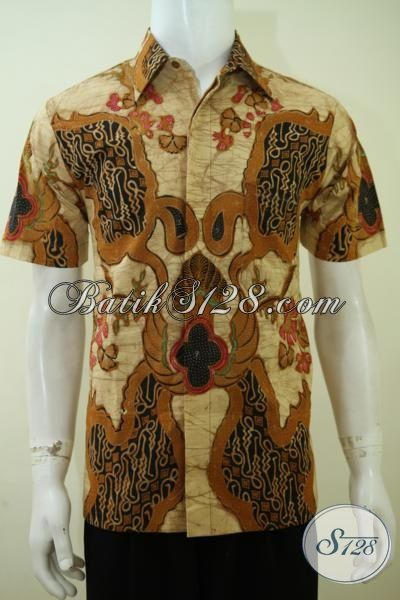Hem Batik Tulis Lengan Pendek Motif Klasik, Baju Batik Full Furing Tampil Elegan Dan Gagah Di Kantor [LD3395TF-M]