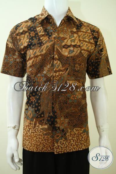 Hem Batik Klasik Premium Pas Buat Kondangan Dan Rapat, Baju Batik Mewah Full Furing Proses Tulis Tangan [LD3400TF-M]